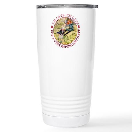 I'm Late, I'm Late! Stainless Steel Travel Mug