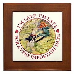 I'm Late, I'm Late! Framed Tile
