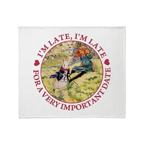 I'm Late, I'm Late! Throw Blanket