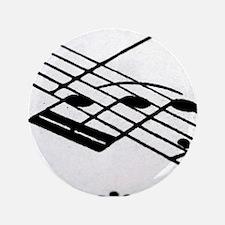 """Musical Notes 3.5"""" Button"""