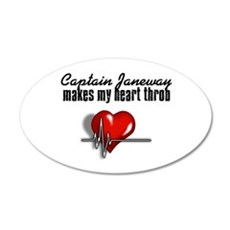 Captain Janeway makes my heart throb 22x14 Oval Wa