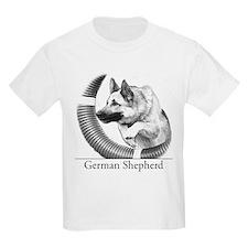 German Shepherd Sketch Kids T-Shirt