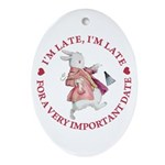 I'm Late, I'm Late! Ornament (Oval)