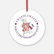 I'm Late, I'm Late! Ornament (Round)