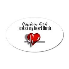 Captain Kirk makes my heart throb 22x14 Oval Wall