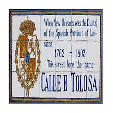 Bourbon St Tile Mural Tile Coaster