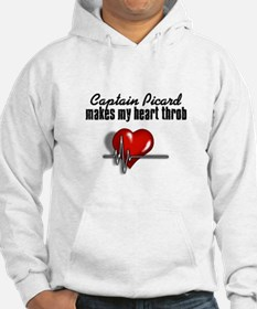 Captain Picard makes my heart throb Hoodie
