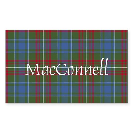 Tartan - MacConnell Sticker (Rectangle)