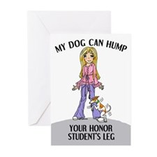Whippet Honor Student Greeting Cards (Pk of 10