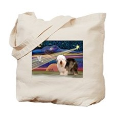 XmasStar/Old English #5 Tote Bag