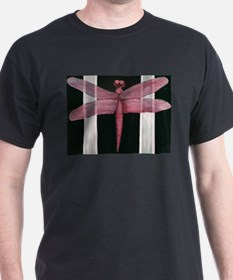 Red Dragonfly Black T-Shirt