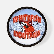 Whitefish Bighorn Wall Clock