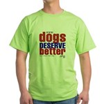 Patriotic Website Graphic Green T-Shirt