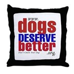 Patriotic Website Graphic Throw Pillow