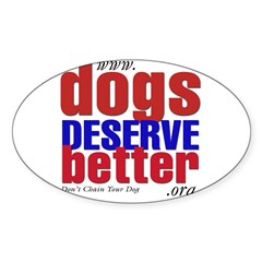 Patriotic Website Graphic Oval Decal