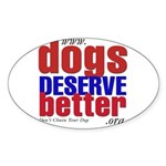 Patriotic Website Graphic Oval Sticker