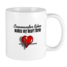 Commander Riker makes my heart throb Mug
