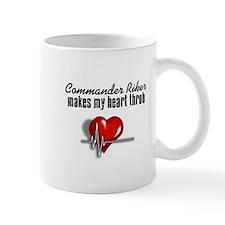 Commander Riker makes my heart throb Mug