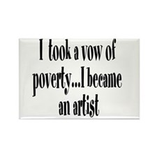 Vow of Poverty Rectangle Magnet