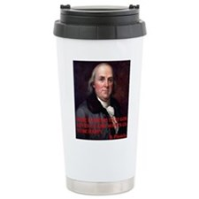 WINE QUOTET BEN FRANKLIN Travel Mug