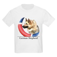 German Shepherd Sketch Kids T-Shirt