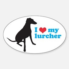 I Love My Lurcher Decal