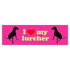 I Love My Lurcher Bumper Sticker