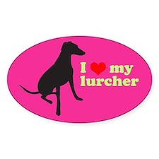 I Love My Lurcher Decal