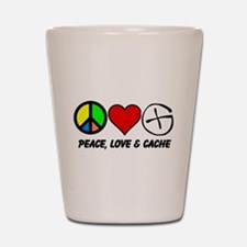 Peace, Love & Cache Shot Glass