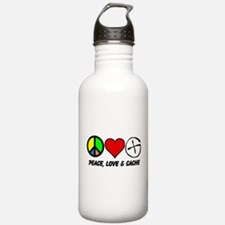 Peace, Love & Cache Water Bottle