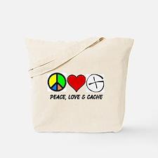 Peace, Love & Cache Tote Bag