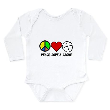 Peace, Love & Cache Long Sleeve Infant Bodysuit