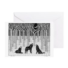 Forest Wolves Greeting Cards (Pk of 10)