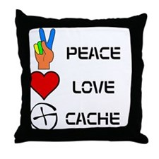 Peace Love Cache Throw Pillow