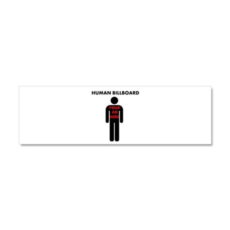 Human Billboard, Your Ad Here Car Magnet 10 x 3