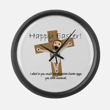Happy Easter Jesus! Large Wall Clock