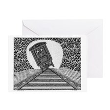 Tipping Train #2 Greeting Card