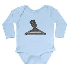 Tipping Train #2 Long Sleeve Infant Bodysuit