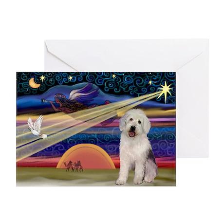 XmasStar/Old English 11 Greeting Cards (Pk of 10)