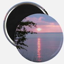 Sunset Lake Superior Magnet