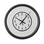 All Fives Large Wall Clock
