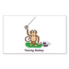 Monkey Rectangle Decal