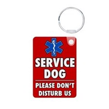 Service Dog Please Don't Disturb AluminumKeychain