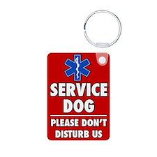 Service Dog Please Don't Disturb AluminumKeychain