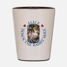 Alice Down the Rabbit Hole Shot Glass