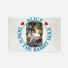 Alice Down the Rabbit Hole Rectangle Magnet