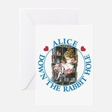 Alice Down the Rabbit Hole Greeting Card