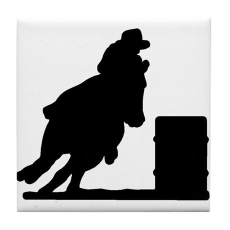 Barrel Racing Tile Coaster