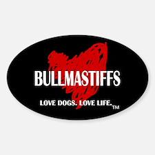 Love Bullmastiffs Decal