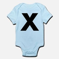 Letter X Infant Bodysuit